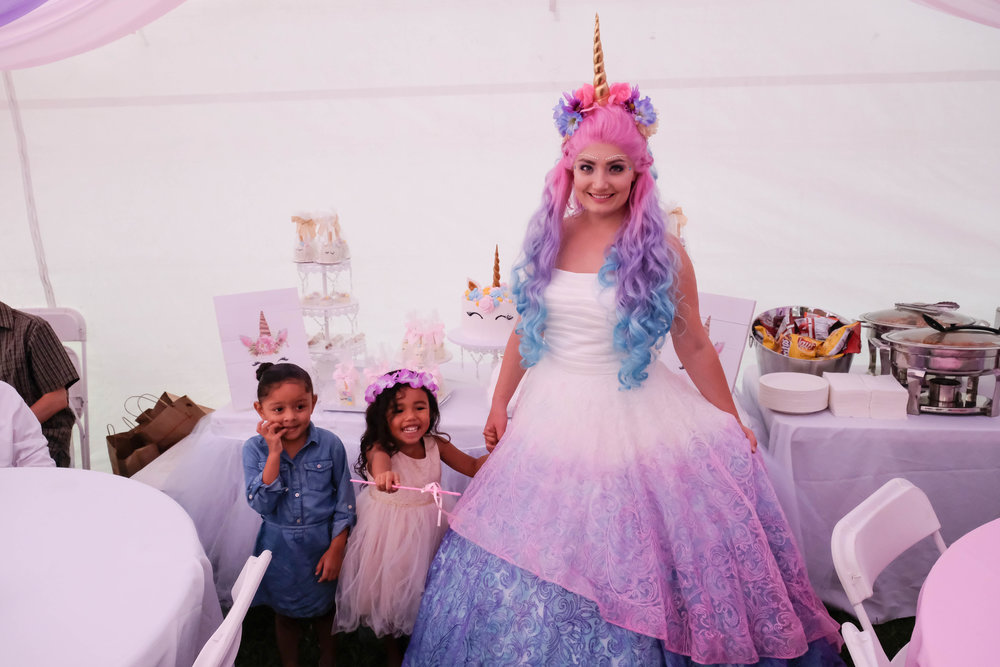 Orange County Inland Empire Unicorn Princess Birthday Party Entertainment Character 2