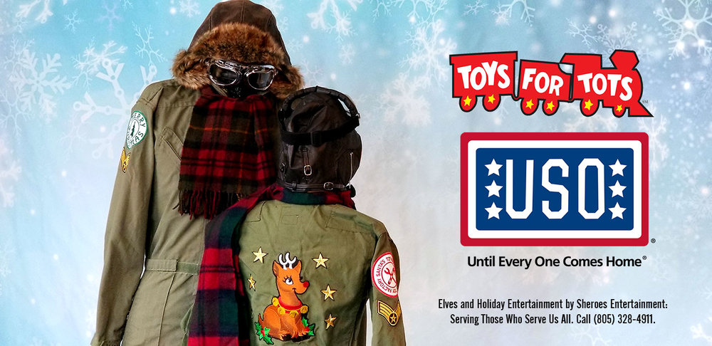 "USO & Toys for Tots Specialty Elves - ""Reindeer Flight School Instructors"""