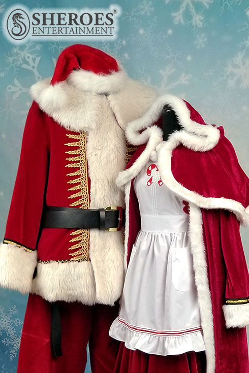 Santa Claus and Mrs Claus Costumes