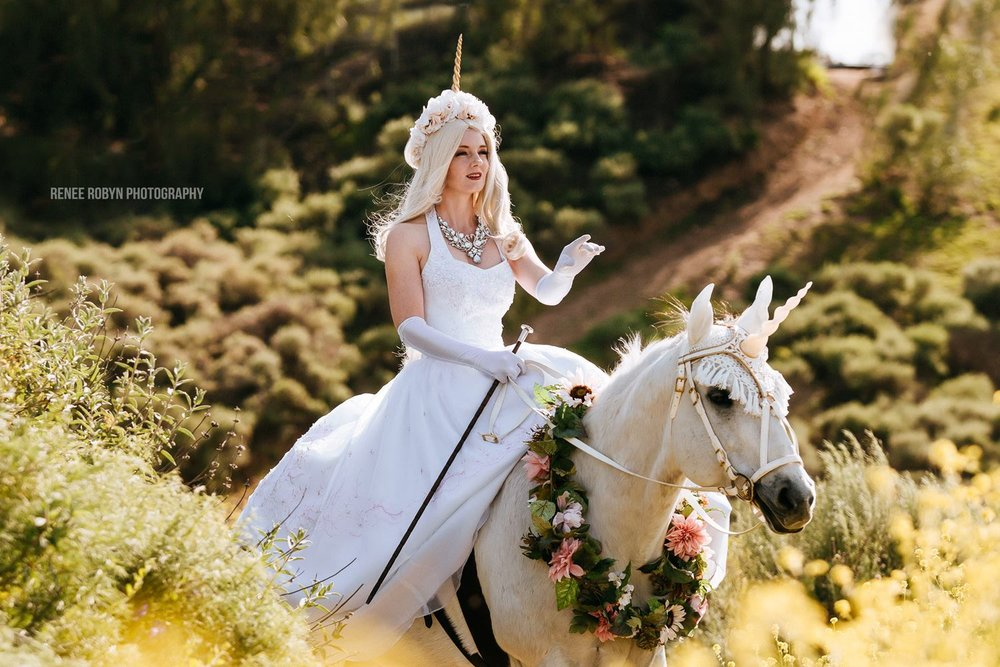 The Royal Wedding Unicorn: A Gorgeous Sidesaddle Horse Package Perfect for Los Angeles and Ventura County Brides Riding in to their Weddings!