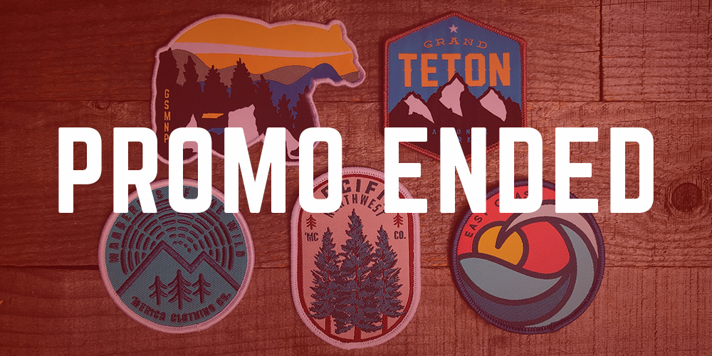 Week 2: June 8 - June 14 - 5 FREE Patches & FREE Shipping ($28.50 VALUE)On Orders $50+PROMO ENDED