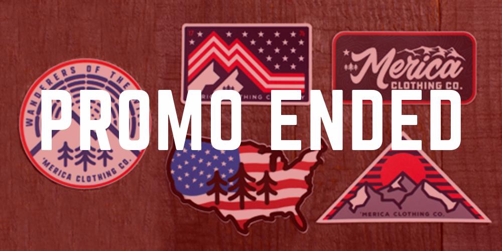 Week 1: June 1 - June 7 - 5 FREE Patriotic Decals ($15 VALUE)On Orders $40+PROMO ENDED