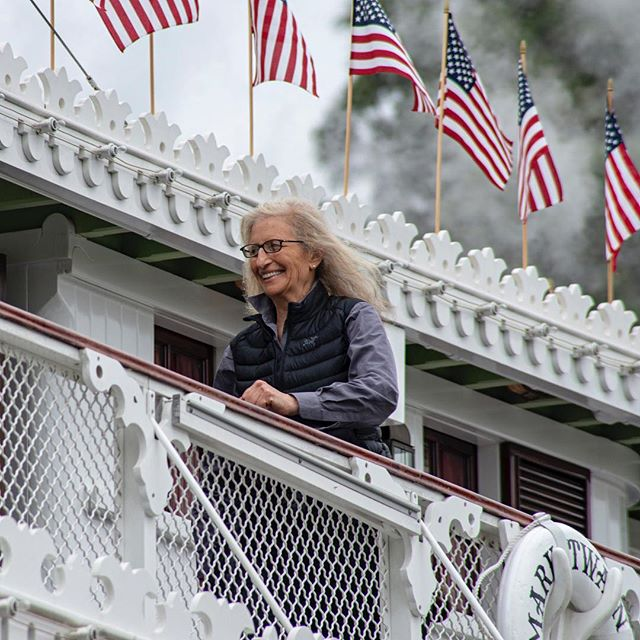 Highlight of my day at Disneyland was seeing the incomparable Annie Leibovitz on the Mark Twain! Truly one of the finest photographers in the world! I could see her composing shots in her head as she took in her surroundings. Was truly remarkable! #goodtimes #disneyland #disneylandresort #disney #annieleibovitz #beautiful #artist #marktwainriverboat #jerrybuteynphotography
