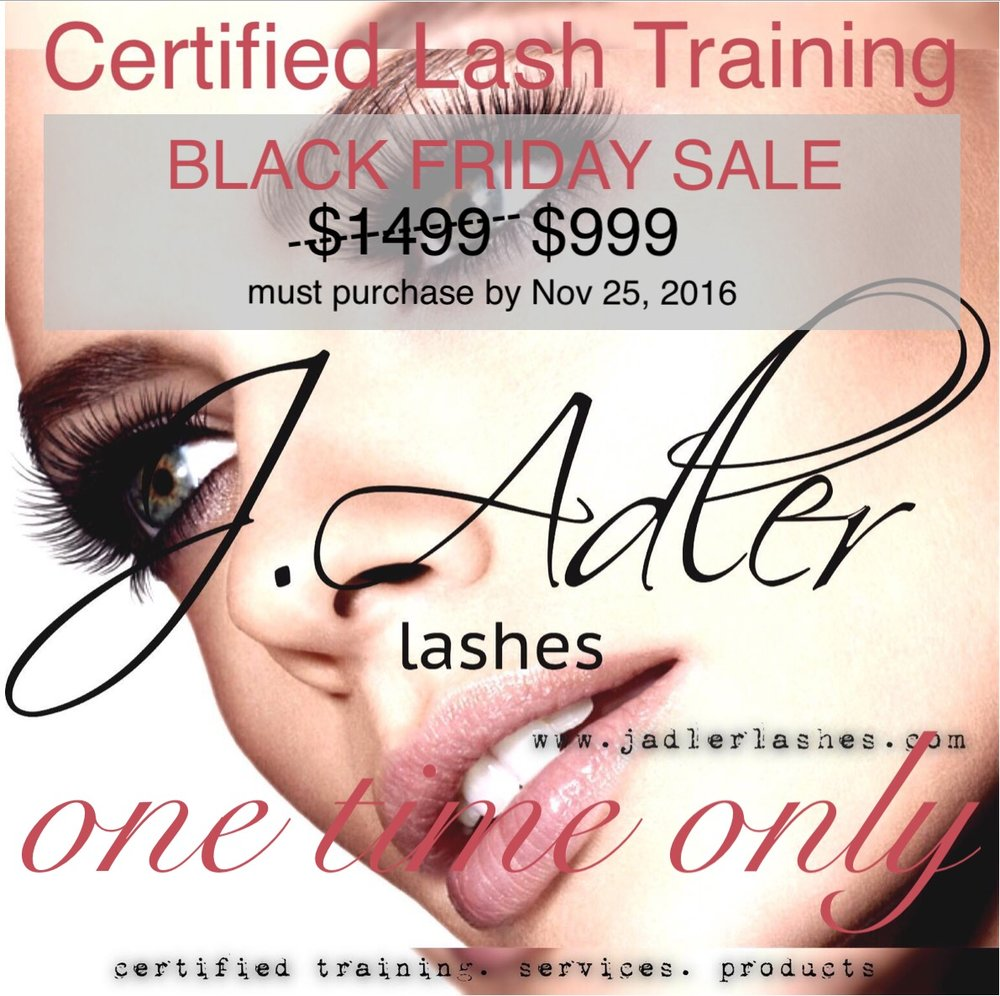J. Adler Eyelash Extension Training - Black Friday Sale