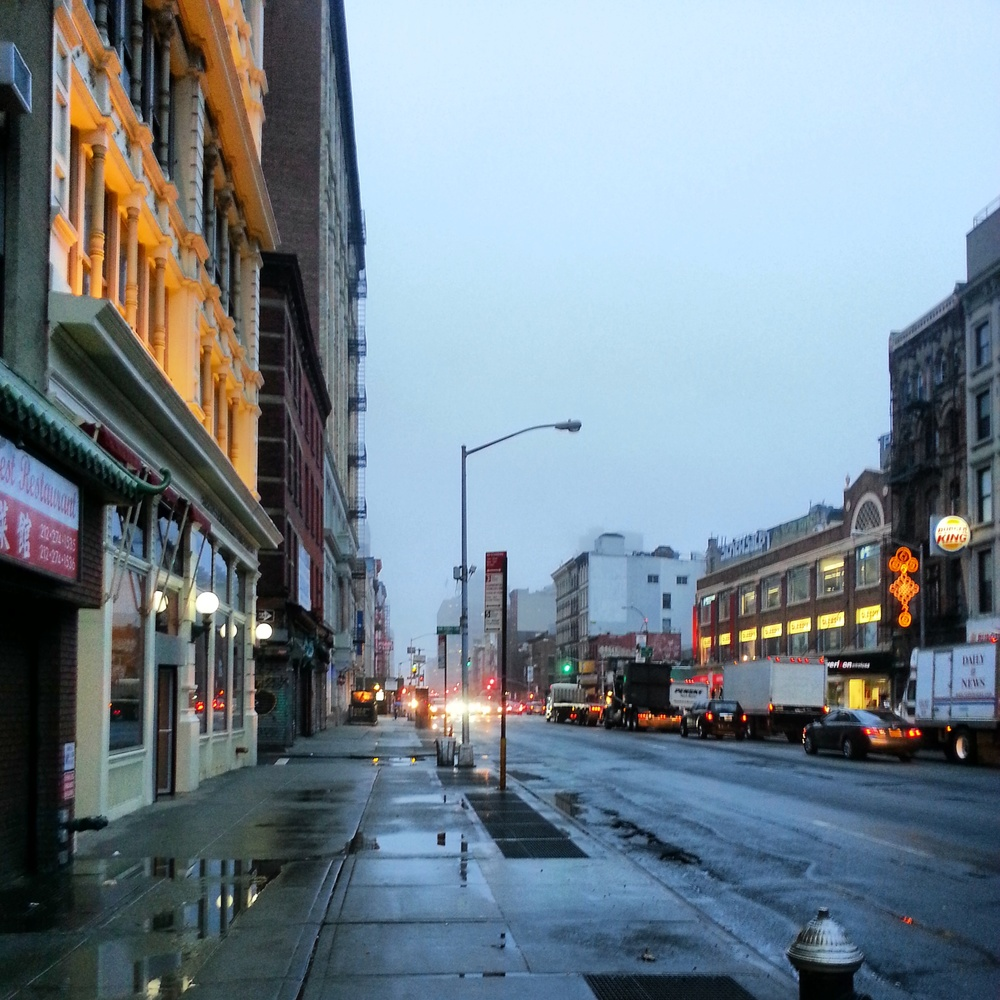 early morning walk in Chinatown
