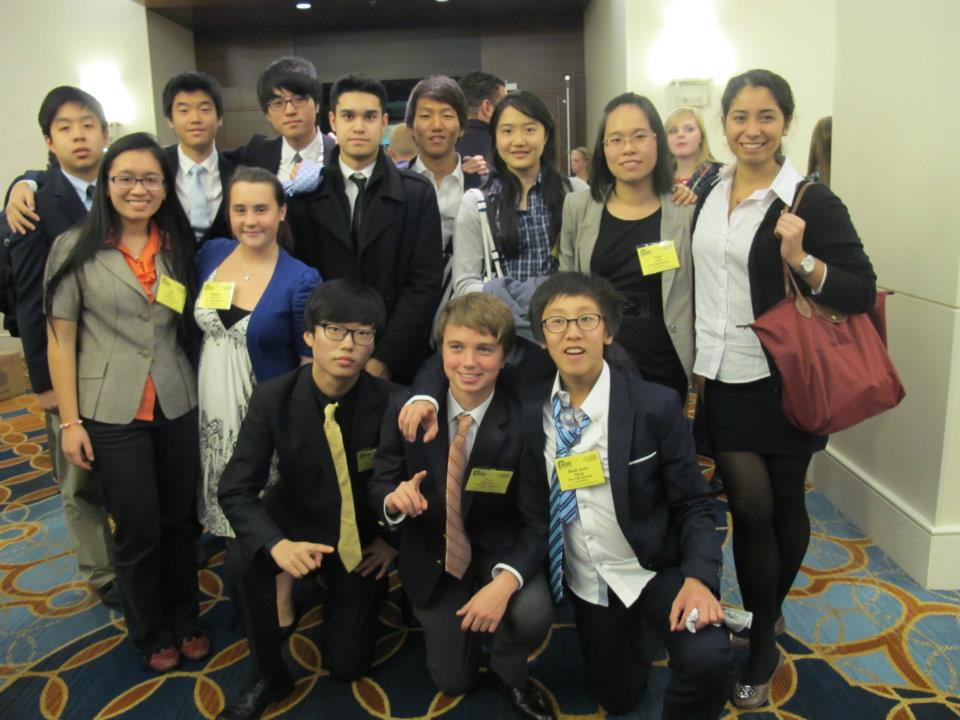 13-student group I brought to Philadelphia for the FBLA Business Leadership Conference in 2011. I'm third from left in the back row.