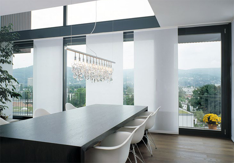 Panel glide blinds available across melbourne - Clever window curtain ideas matched with interior atmosphere and concept ...