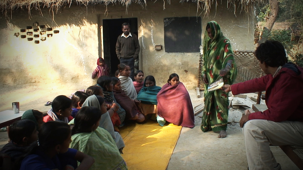 Women's Literacy class in a Dalit village, Northern India. COME funds various literacy programmes across Northern India