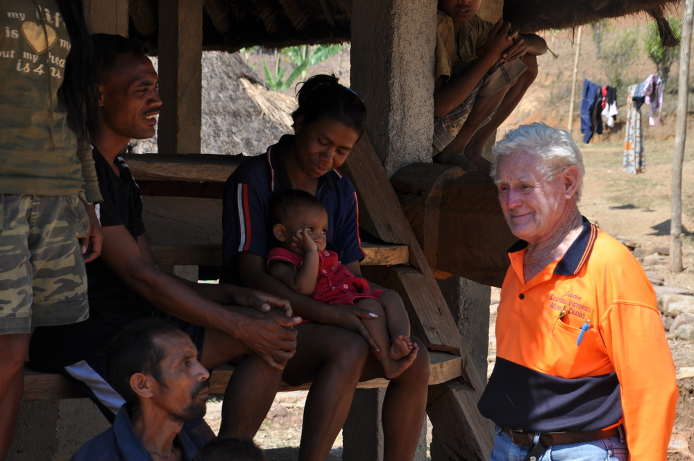 Ivan Smith, from Rotary Australia, is one of a team of volunteers helping to re-build buildings in remote parts of Timor-Leste
