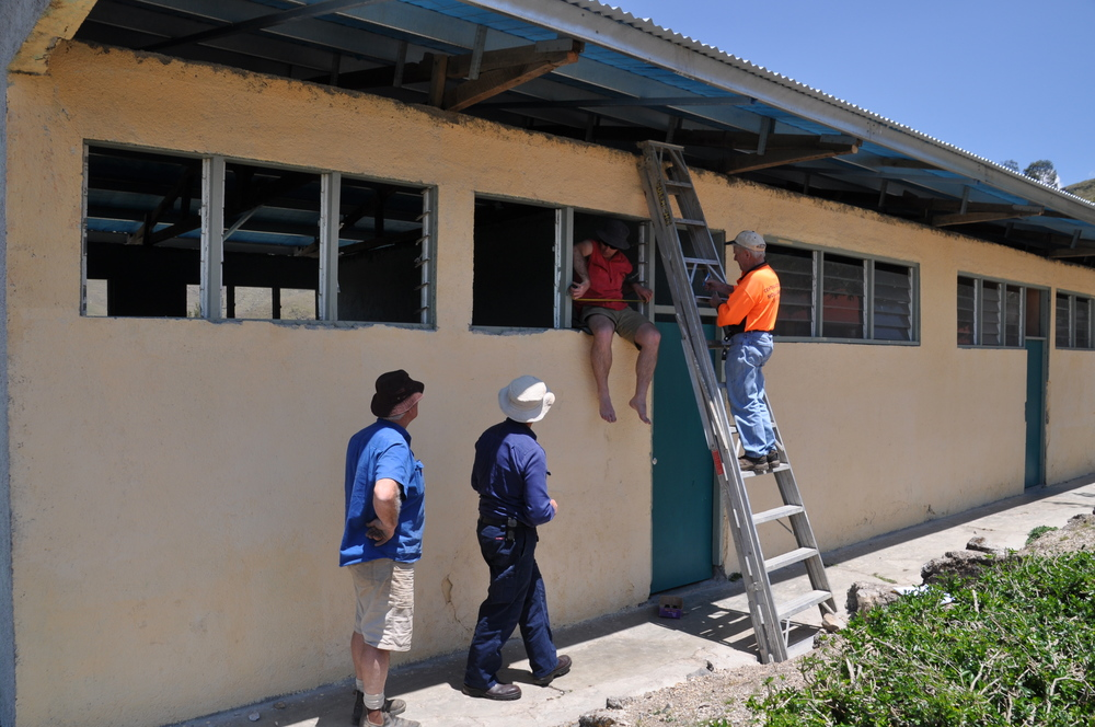 The school at Flecha, Timor-Leste, doubled in size when the derelict buildings were re-built by the Rotary team from Australia
