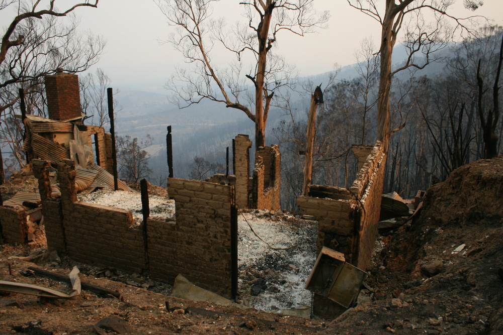 Over 2,000 homes were lost in the Black Saturday bushfires - Photo courtesy of Bron Milne