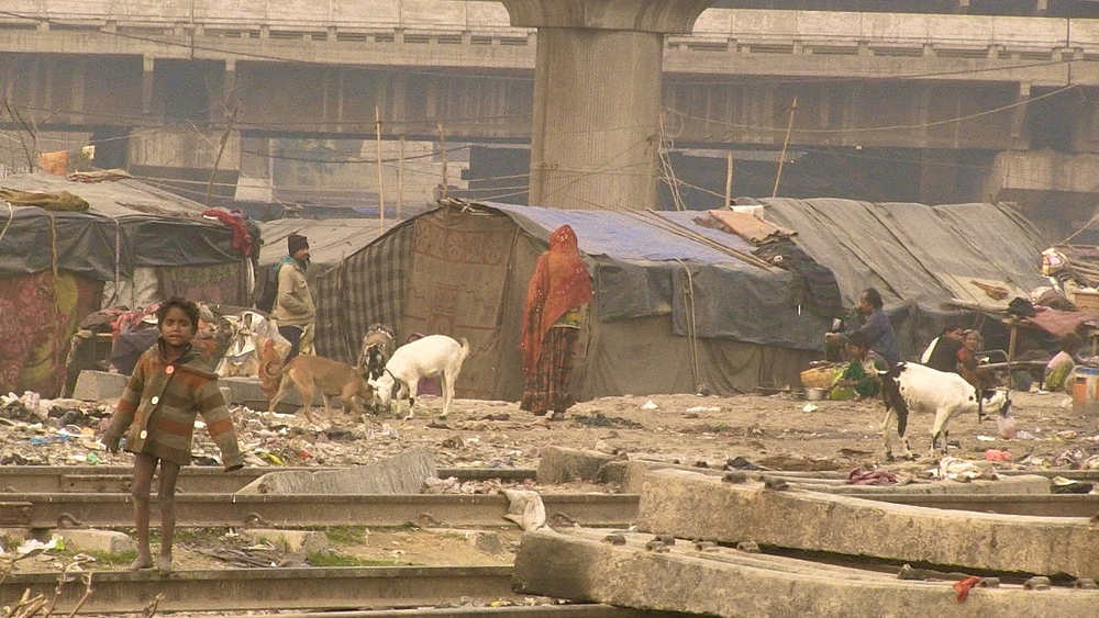 Shadara slum near Shadara railway station, Delhi