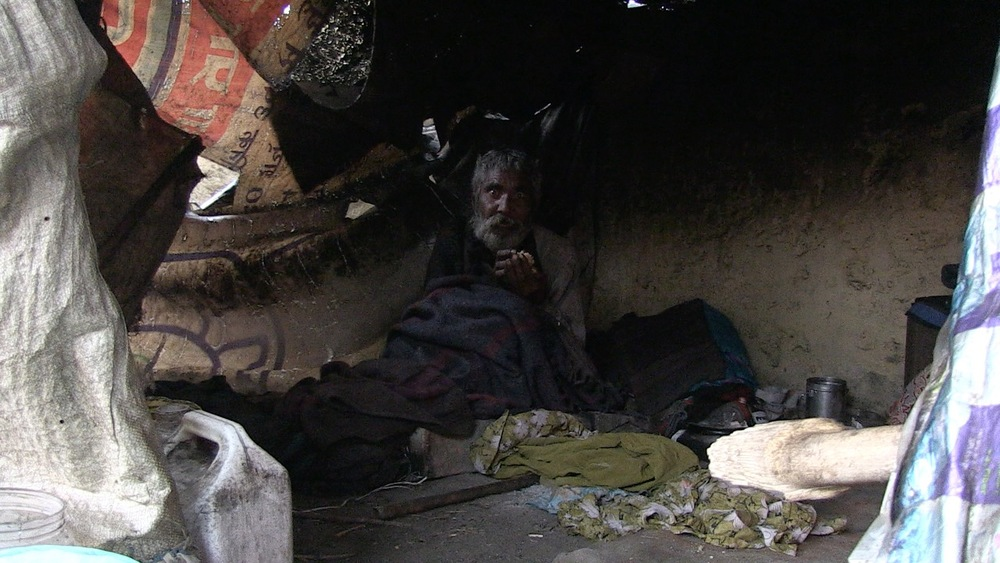 Homeless man in Gorakphur, India