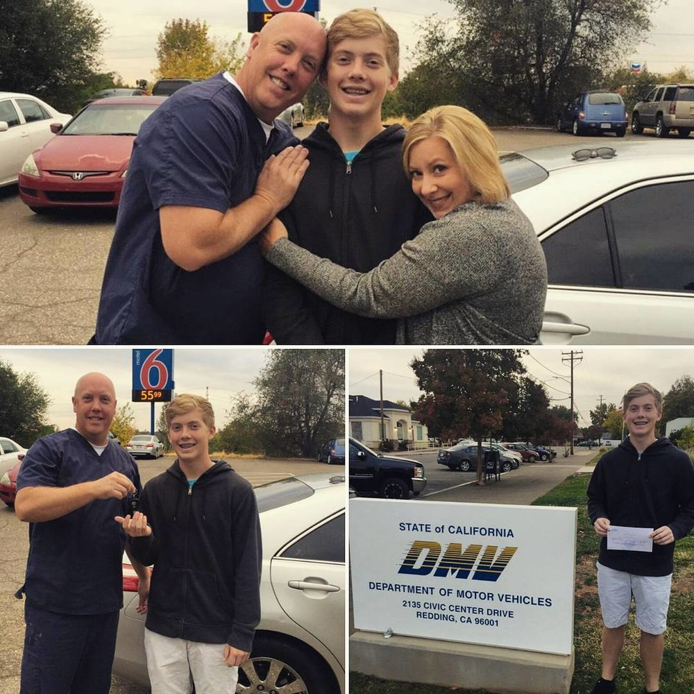 Pedal to the metal!! - Lookout world!!! Dr. Mullen and Emily just passed the keys on to their oldest son Ethan. Hes officially a licensed driver and free grocery picker-upper! Congratulations Ethan!