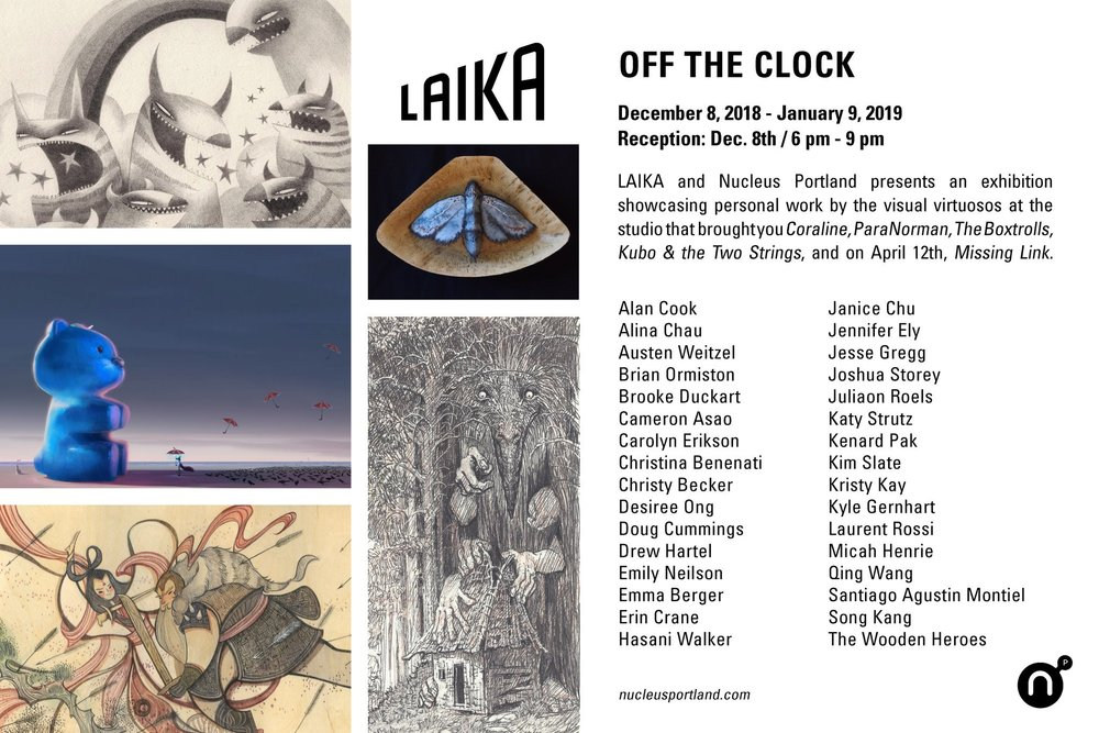 Upcoming Laika group show at Gallery Nucleus Portland:)