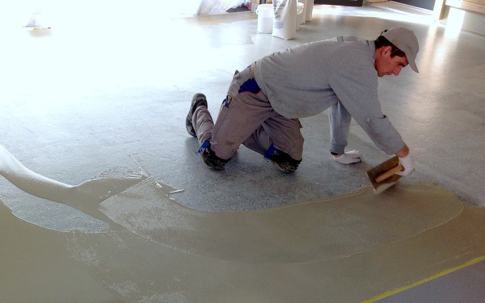 Industriebodenbeschichtung in Garage