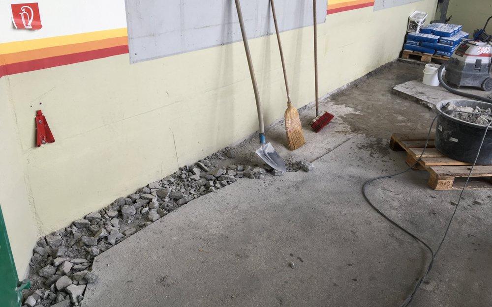 Betonbodensanierung bei Bergbahn