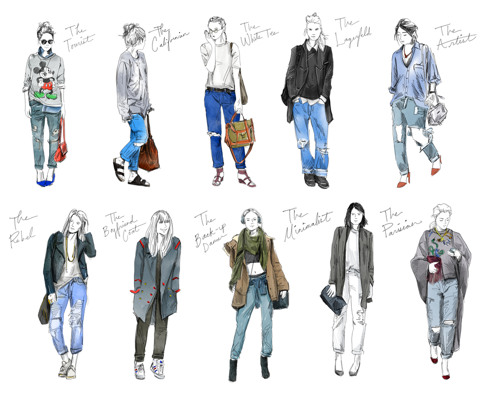 HOW TO : Boyfriend Jeans Illustration