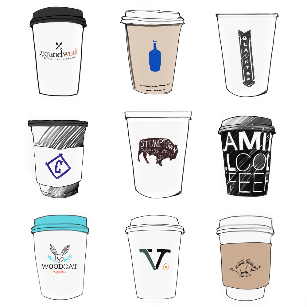 BEST OF LA, Coffee Cup Illustration