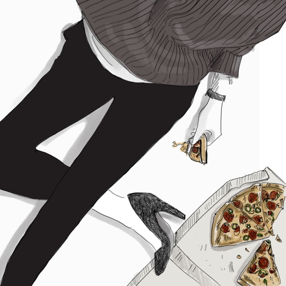 Death By Pizza illustration