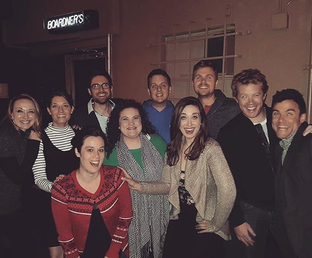 Multiple generations of UNDATEABLE team 😊 We bid you farewell. Stay DATEABLE, peeps! . . . . . . #UNDATEABLE #secondcity #secondcityhollywood #secondcityla #okc #okcupid #onlinedating #dating #truelove #tgif #hollywood #losangeles #comedy #livetheatre #lathtr #improv #fridaynightout #datenight #brosnight #ladiesnight #goldstar #entertainment #secondcityfamily