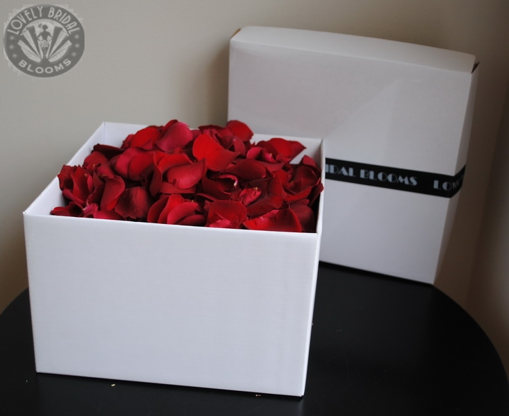 standard box of all red petals