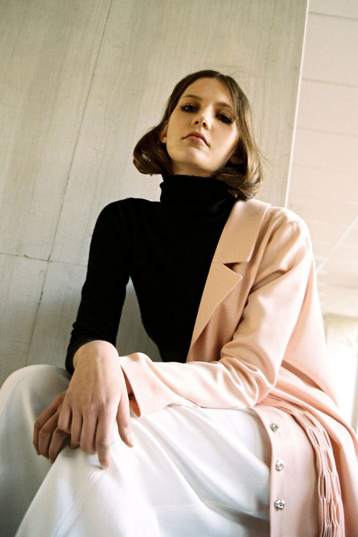 Jacket: Zorana Janjic  Jersey Pullover: Louis Vuitton  Pants: Yohji Yamamoto