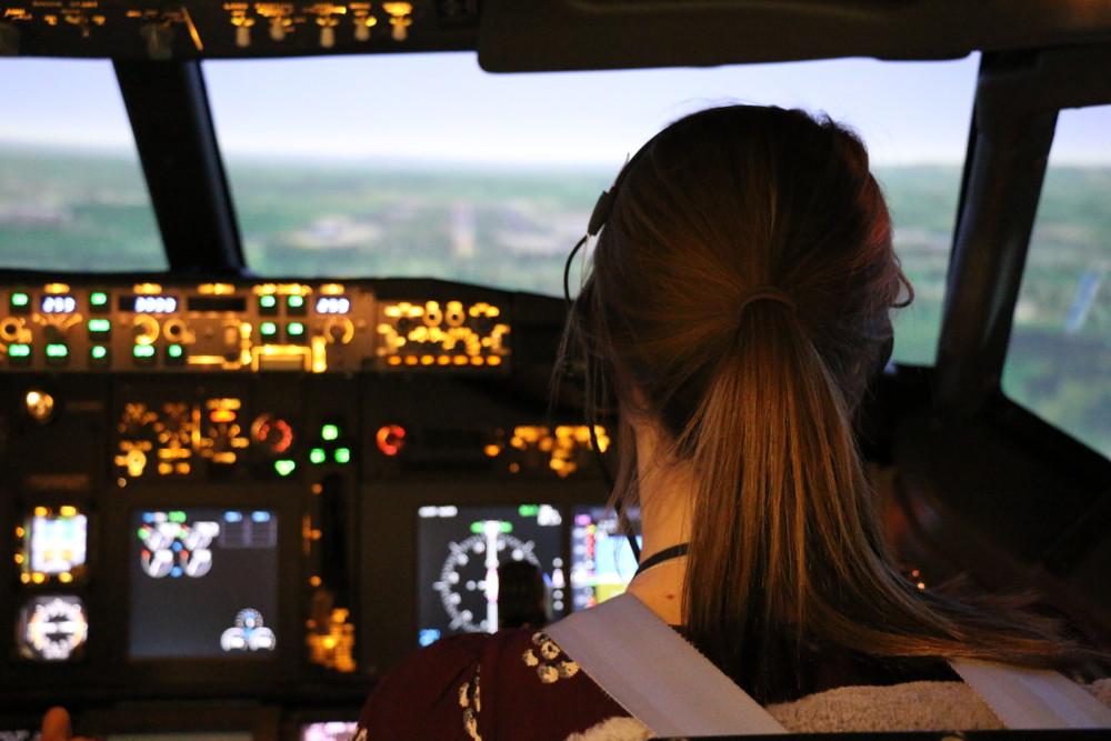 Take a demonstration flight the controls of our new B737-800 simulator used for MCC training.