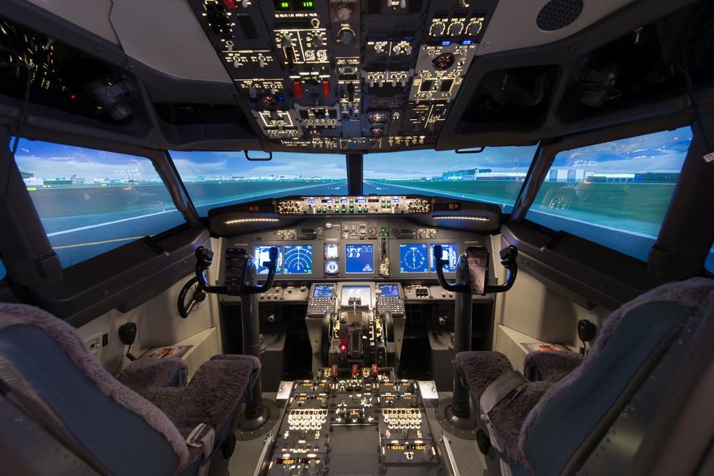 Boeing 737-800 simulator at Cambridge Airport