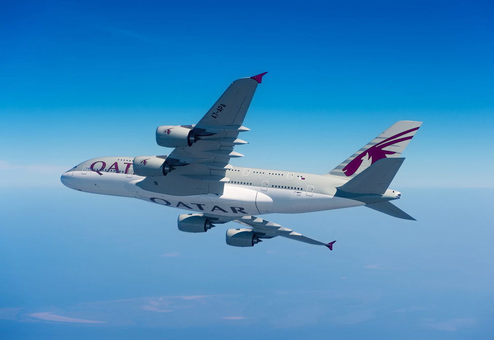 Qatar Airways' first A380