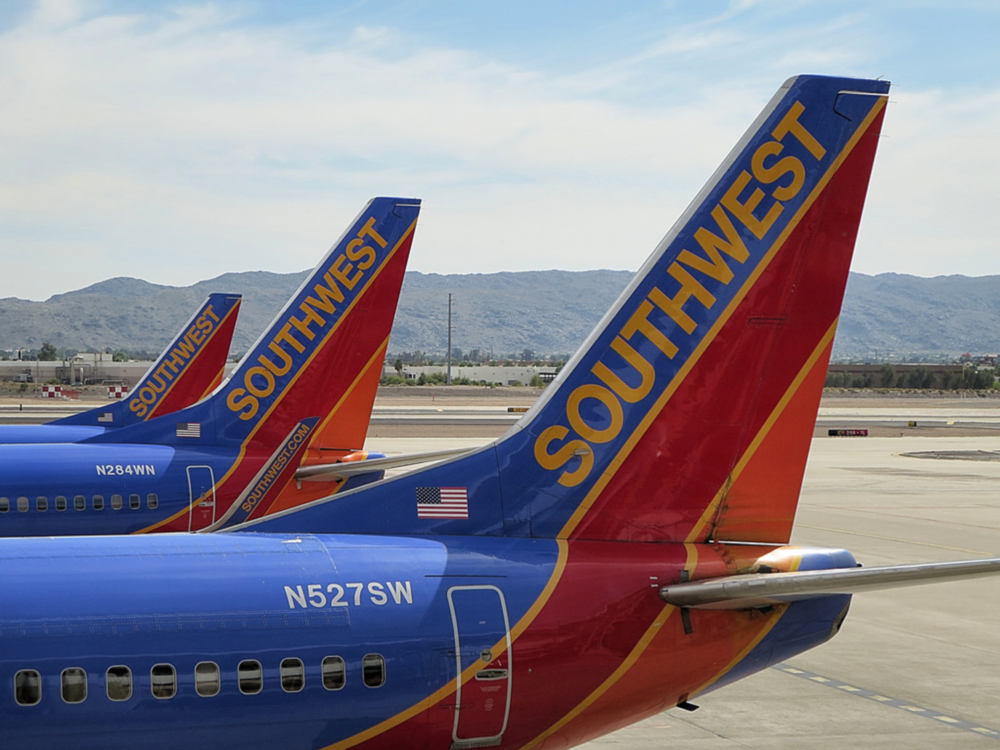 On the ground for now: Southwest B737s