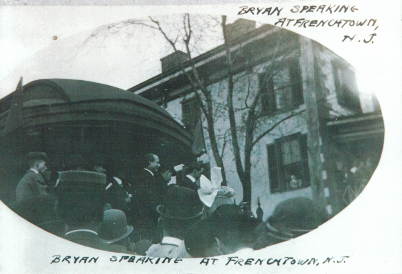 Presidential Candidate William Jennings Bryan campaigning in Frenchtown. 1908