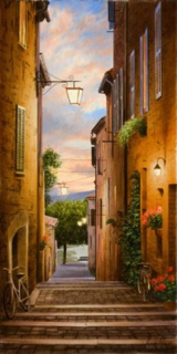 "An Evening In Tuscany 32""Hx16""W"