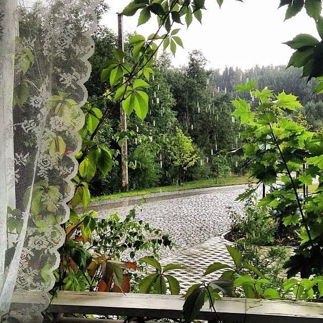 Как приятно сидеть в дождь на веранде, закутавшись в теплый плед и согреваясь горячим чаем ... Foto by Юлия, шале Verona.