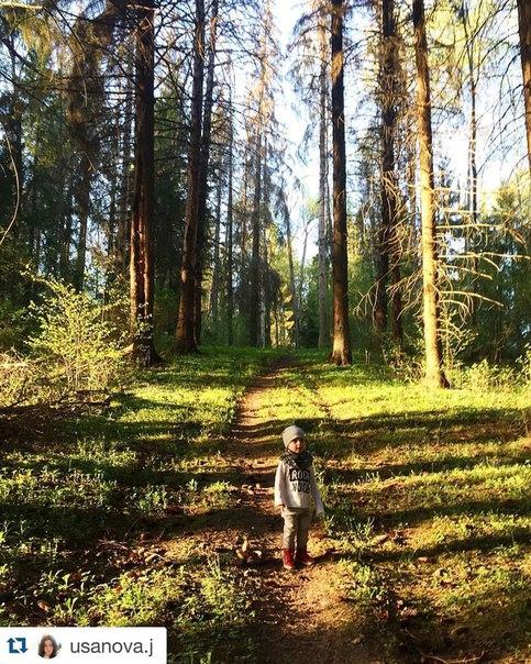 Фото Евгении из виллы St. Мoritz в лесу Скоково.