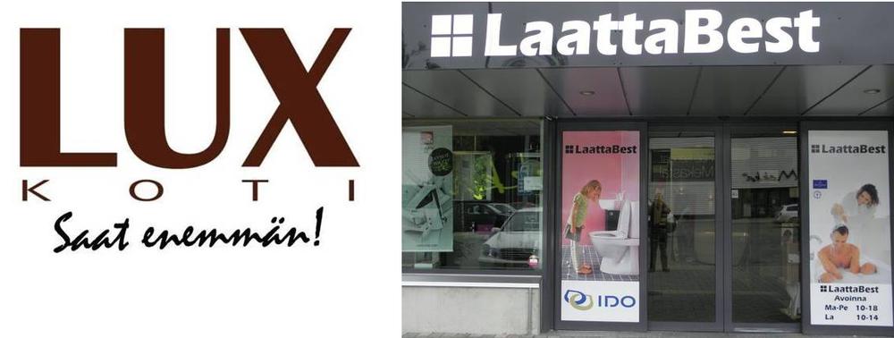Yhteistyökumppanit :    LuxKoti  ja  Laattabest