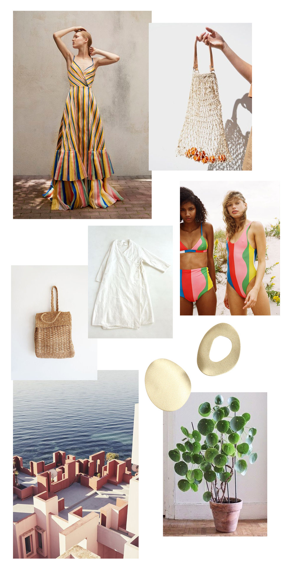 1 - Carolina Herrera, 2 - Dainty Fashion, 3 - Barnaby Jack, 4 - Evam Eva, 5 - Mara Hoffman, 6 - Vogue, 7 - Nila, 8 - Littlegrennshed