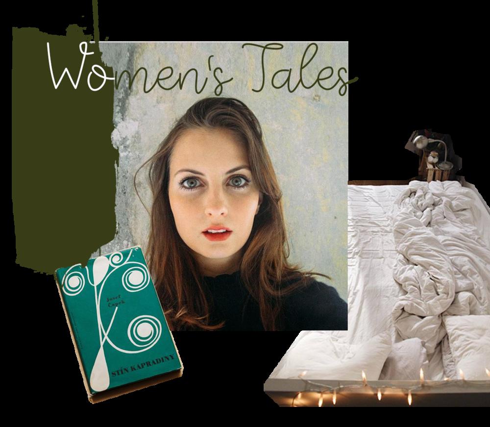 Anežkina obľúbená farba - khaki, kniha - Stín kapradiny a predmet - posteľ.