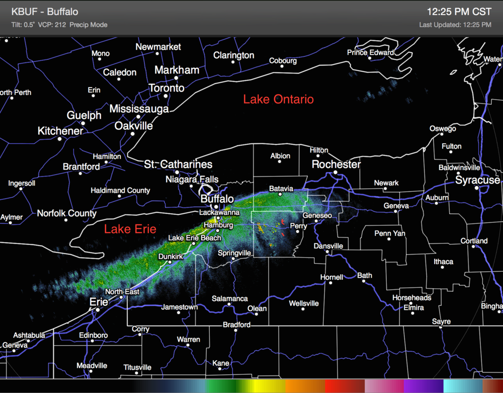 Image from Buffalo, NYNWS radar( Credit: NOAA/NWS )