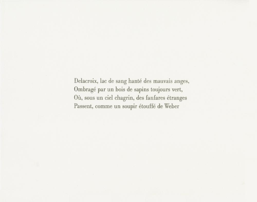 Baudelaire, Les phares (Delacroix),  2013 watercolor and pencil on paper, 11x14