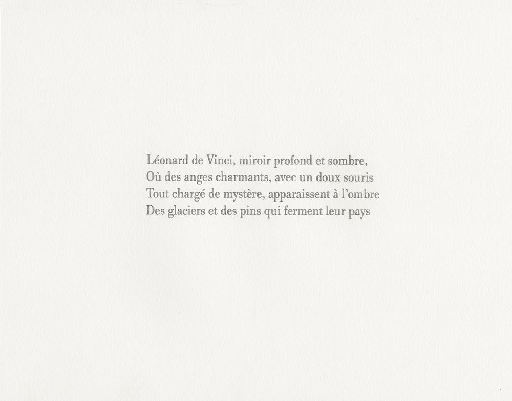 Baudelaire, Les phares (Léonard),  2013 watercolor and pencil on paper, 11x14