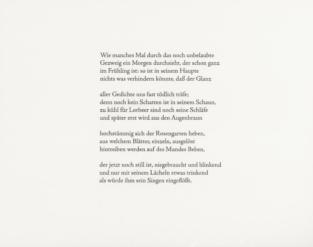 Rilke, Früher Apollo,  2014 watercolor and pencil on paper, 11x14