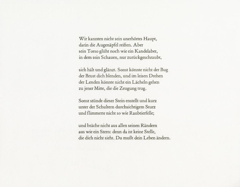 Rilke, Archaïscher Torso Apollos, 2014 watercolor and pencil on paper, 11x14