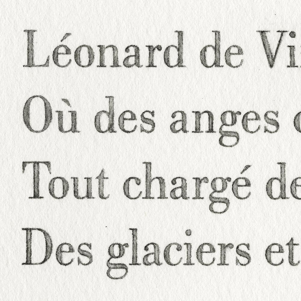 Baudelaire, Les phares (Léonard), detail, 2013 watercolor and pencil on paper, 11x14