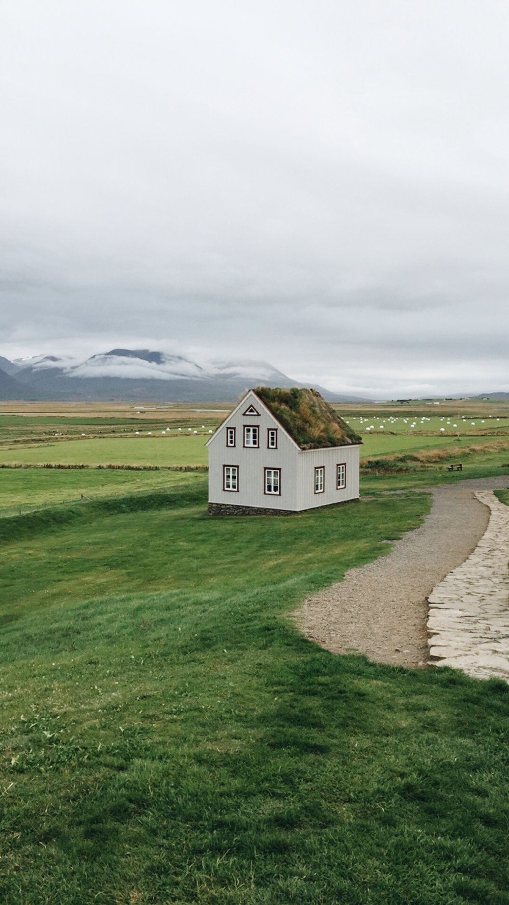 Turf house, West Iceland