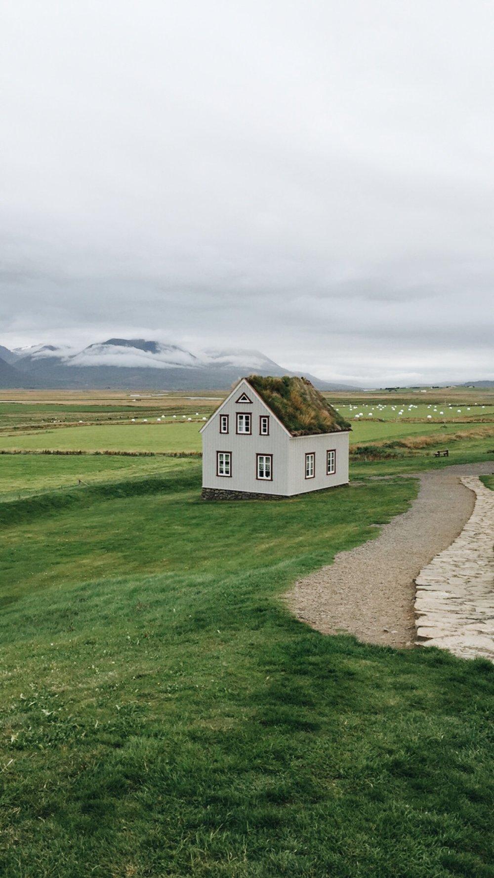 Turf house, West Iceland