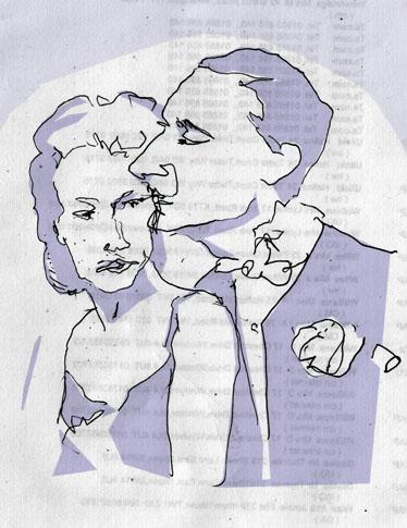 Ginger Rogers David Niven sketch.jpg
