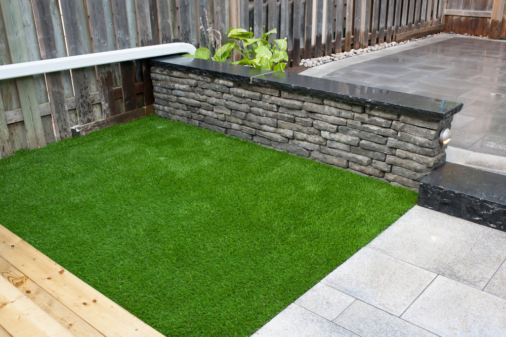 Synthetic turf play area.