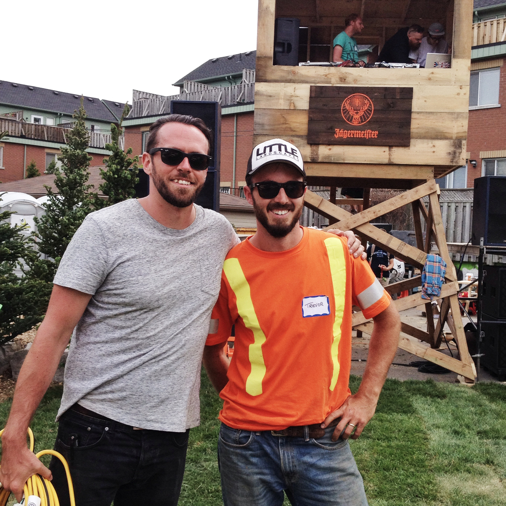 Chris from Rooftop & Trevor pose for a quick photo together before the party gets started - a job well done!