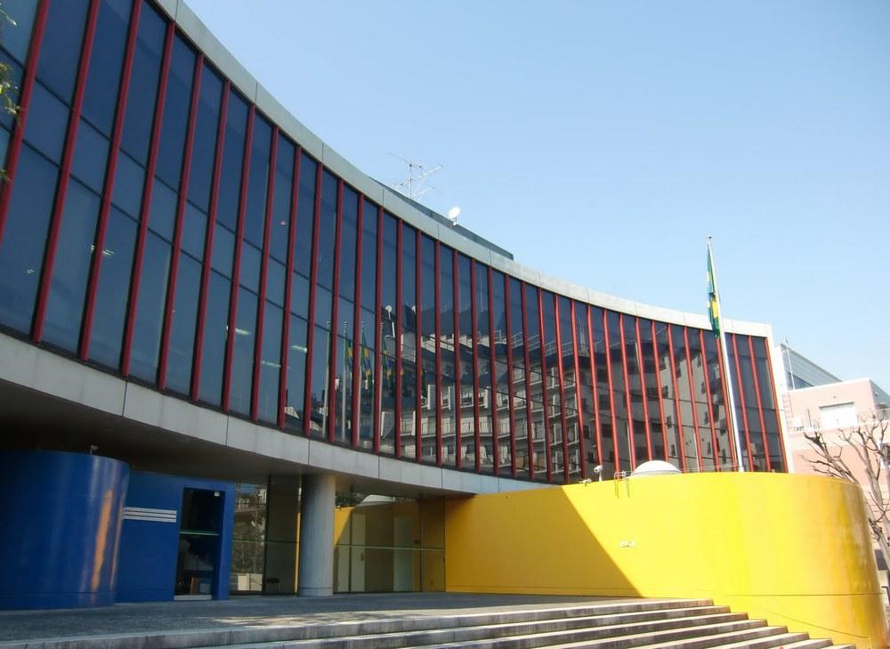 Brazilian Embassy, Tokyo, building by Ruy Ohtake